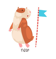 near english language preposition place and vector image