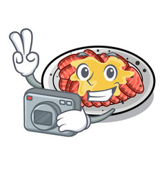 Photographer carpaccio isolated with in mascot vector