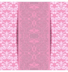 pink invitation vector image