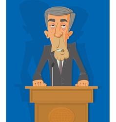 Politician on the podium vector