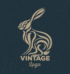 Rabbit vintage vector image