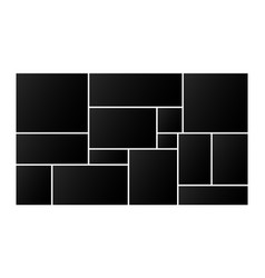 Rectangular photo collage frame for images vector