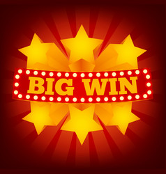 retro sign big win vector image