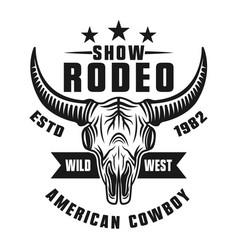 Rodeo show emblem or apparel design vector