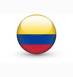 Round icon with national flag of Colombia vector