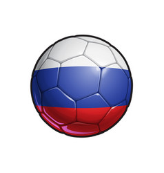 Russian flag football - soccer ball vector