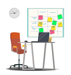 Scrum board board with post it notes for vector