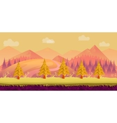 Seamless cartoon nature landscape Layered ground vector image