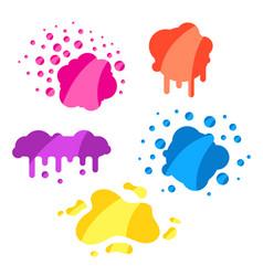 Set splashes spots and drops vector