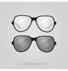 set sunglasses and eyeglasses vector image