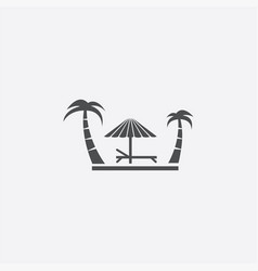 simple island icon vector image