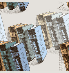 sketches of the old printed books vector image
