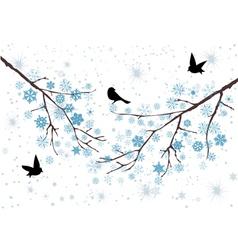 snow birds vector image