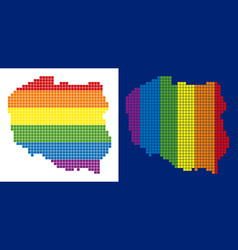 spectrum pixel dotted poland map vector image