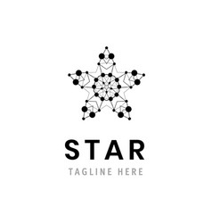star logo template company symbol business vector image