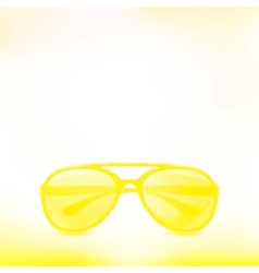 Sunglasses isolated background vector