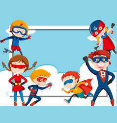 super hero frame template vector image