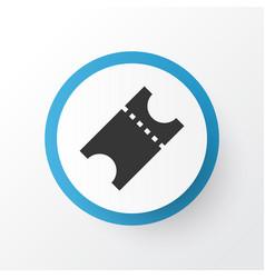 ticket icon symbol premium quality isolated vector image