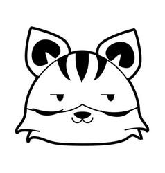 Tiger flirty cute animal cartoon icon image vector