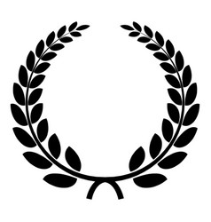 triumph wreath icon simple style vector image