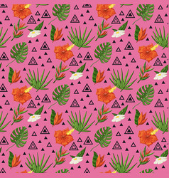 tropical pattern with monstera vector image