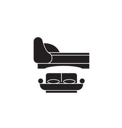 two double beds black concept icon two vector image