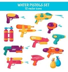 Water Guns Set vector image