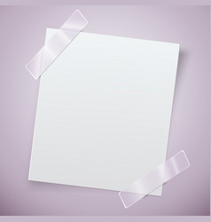 white paper note with the adhesive tape vector image