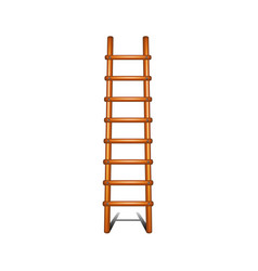Wooden ladder with shadow leading up vector