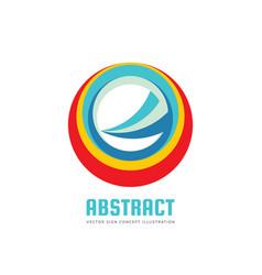 Abstract circle logo template concept vector