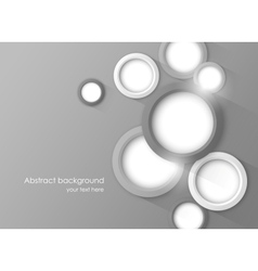 Background with gray circles vector image vector image