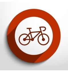 bicycle web icon vector image