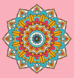 colourful mandala background design vector image