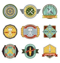 Repair Workshop Retro Badges vector image