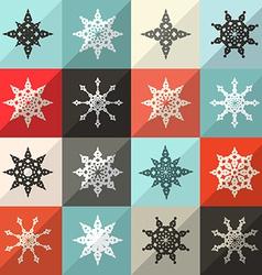 Retro Snowflakes Set vector image vector image
