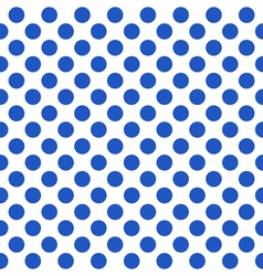 Seamless pattern with blue polka dots vector image