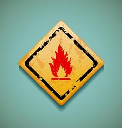 Warning sign Stock vector image