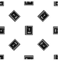 bible pattern seamless black vector image vector image