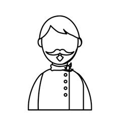 Chef male profile vector