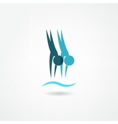 dive icon vector image vector image