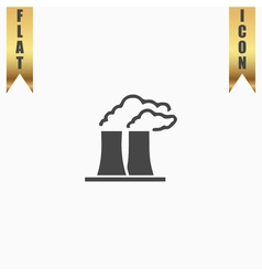 Factory flat icon vector