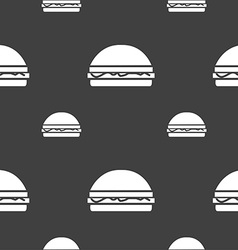 Hamburger icon sign Seamless pattern on a gray vector image