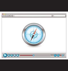 internet web browser concept vector image
