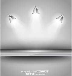 Shelf with spotlights vector image vector image