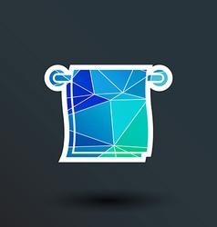 towel icon button logo symbol concept vector image