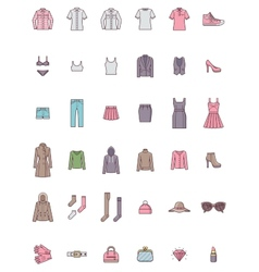 Women clothes set vector image