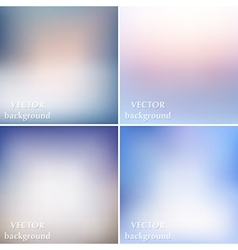 Abstract colorful blurred smooth backgrounds vector image