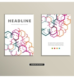 Book cover with abstract colored lines eps vector image