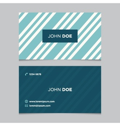 business card pattern blue 03 vector image