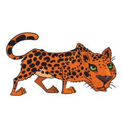 cartoon image of leopard vector image